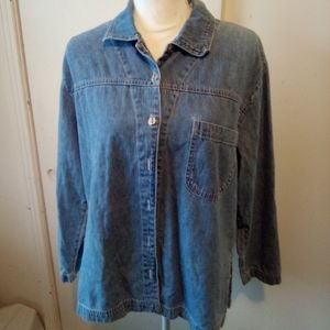 Studio east Jean shirt size 10